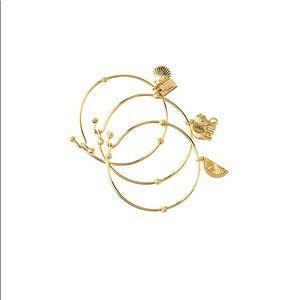 Lilly Pulitzer set of 3 gold tone bangle bracelet